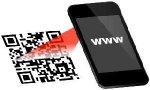 QR-Code mit dem Smartphone/Handy abscannen und www Adresse im Web-Browser des Smartphone/Handy öffnen.